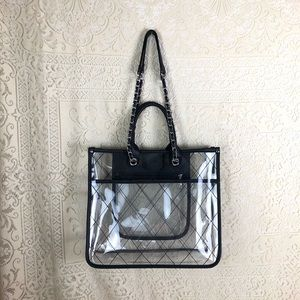 Steve Madden clear quilted tote [used]